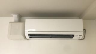 ドレンアップキットを付けってのエアコン設置